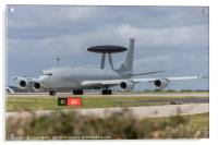 Boeing E3 Sentry ready for take off, Acrylic Print