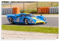 Lola T70 at the Circuit de Catalunya 2017, Acrylic Print