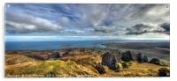 View from the top of the Needle Rock, Isle of Skye, Acrylic Print