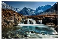 Fairy Pools, Isle of Skye., Acrylic Print