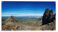 View of the Red Cuillins from the Black Cuillin , Acrylic Print