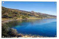 Blue skies over Dunn Caan, on the Isle of Raasay., Acrylic Print