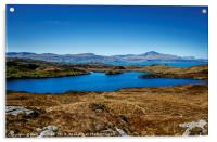 Isle of Skye and The Storr from The Isle of Raasay, Acrylic Print