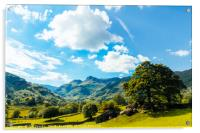 Langdale Pikes from Copt Howe 2, Acrylic Print