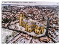 Beverley Minster in the Snow, Acrylic Print