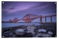 Forth Rail Bridge from South Queensferry, Acrylic Print