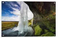 Seljalandsfoss are one of the impressive waterfall, Acrylic Print
