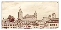 Rapperswil Castle Sepia, Acrylic Print