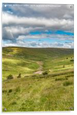 The Hudes Hope Valley, Teesdale (2), Acrylic Print