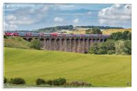 LNER Train Crossing Alnmouth Viaduct, Acrylic Print