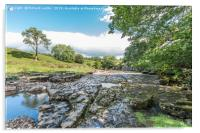 The River Greta at East Mellwaters 3, Acrylic Print