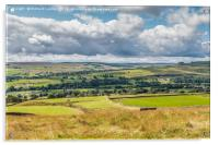 Over Teesdale to Lunedale from Blunt House, Acrylic Print