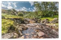 Blea Beck and Waterfall in Spate (1), Acrylic Print