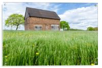 Abandoned Barn In The Countryside , Acrylic Print
