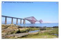 Forth Bridges at South Queensferry, Acrylic Print