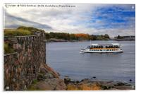 Small Ferry and Fortress, Acrylic Print
