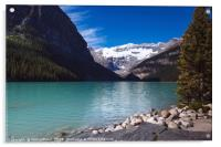 Turquoise coloured waters of Lake Louise, Banff Na, Acrylic Print