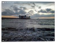Sunset over the Grand Pier, Acrylic Print
