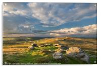 View from Rippon Tor to Haytor, Acrylic Print