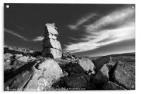 Bowerman's Nose in Black and White, Acrylic Print