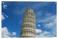 Leaning tower of Pisa, Italy,, Acrylic Print
