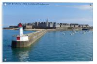 Arriving at St malo in France, Acrylic Print