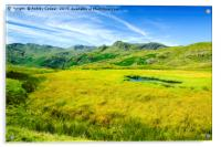 Langdale Pikes., Acrylic Print
