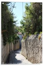Walkway leading down to Old Town Dubrovnik, Acrylic Print