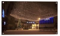 Durham's Market Square at Christmas, Acrylic Print