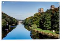 A Summers Day in Durham, Acrylic Print