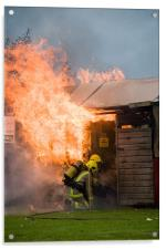 1 shed, well alight, Acrylic Print