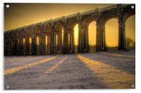 Balcombe Viaduct in the Snow at Sunset, Acrylic Print