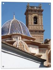 Church dome and tower, Acrylic Print
