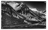 Snow Mountains Alaska, Acrylic Print