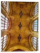 Bath Cathedral's Ceiling, Acrylic Print