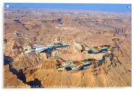 2 F-16 and one F-15 IAF fighter jets, Acrylic Print