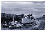 Moored in the Humber, Acrylic Print