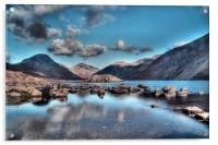 Wastwater on the Rocks, Acrylic Print