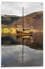 Sailing Boat Reflection Loch Leven, Acrylic Print