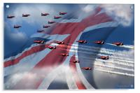 Display  (Red Arrows), Acrylic Print