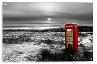 The Red Phone Box, Acrylic Print