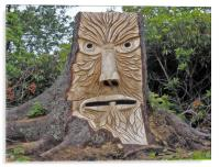 stump face unpainted, Acrylic Print