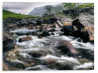 Rushing River, Glen Etive, Acrylic Print