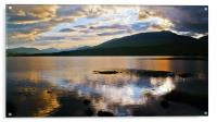 Loch Tulla At Sunset, Acrylic Print