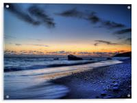 Sundown On Aphrodites Beach, Acrylic Print