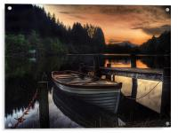 Golden Sunset over Loch Ard, Acrylic Print