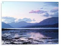 Evening light Over Loch Leven, Acrylic Print