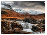 Glen Etive Waterfall, Acrylic Print