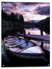Loch Ard Summers Evening., Acrylic Print
