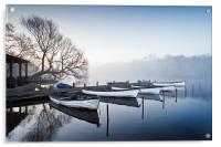 Boats on the Eels Foot at Ormesby Little Broad, Acrylic Print